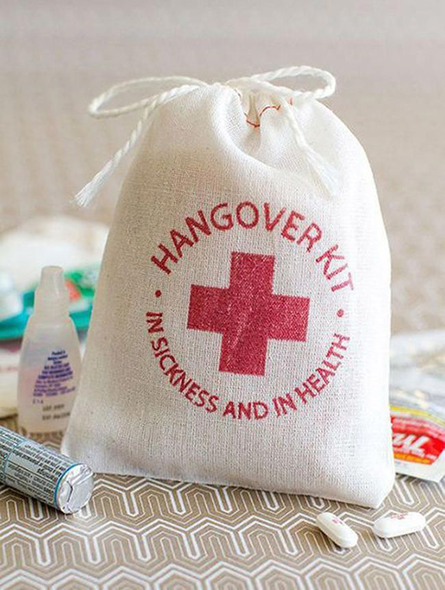 The Witty Hangover Kit - Creative Wedding Giveaways Ideas – Top 20 Items to Preserve Memories - EverAfterGuide
