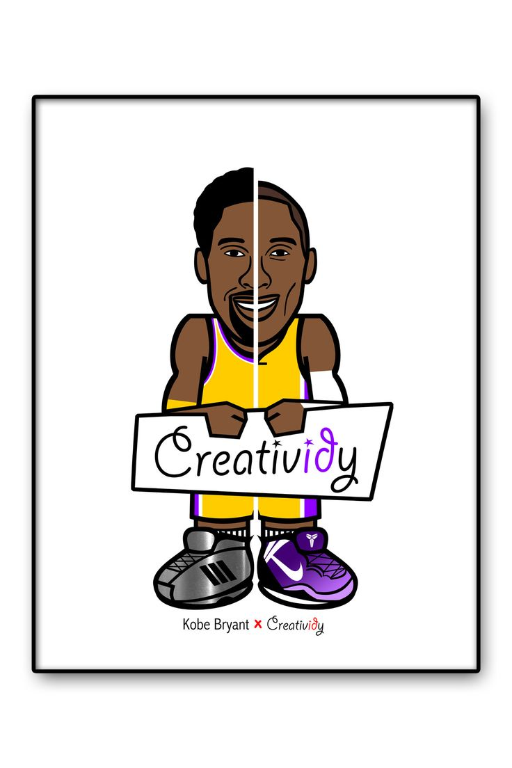 "8.5"" x 11"" Print - Kobe Bryant - 8 vs 24"