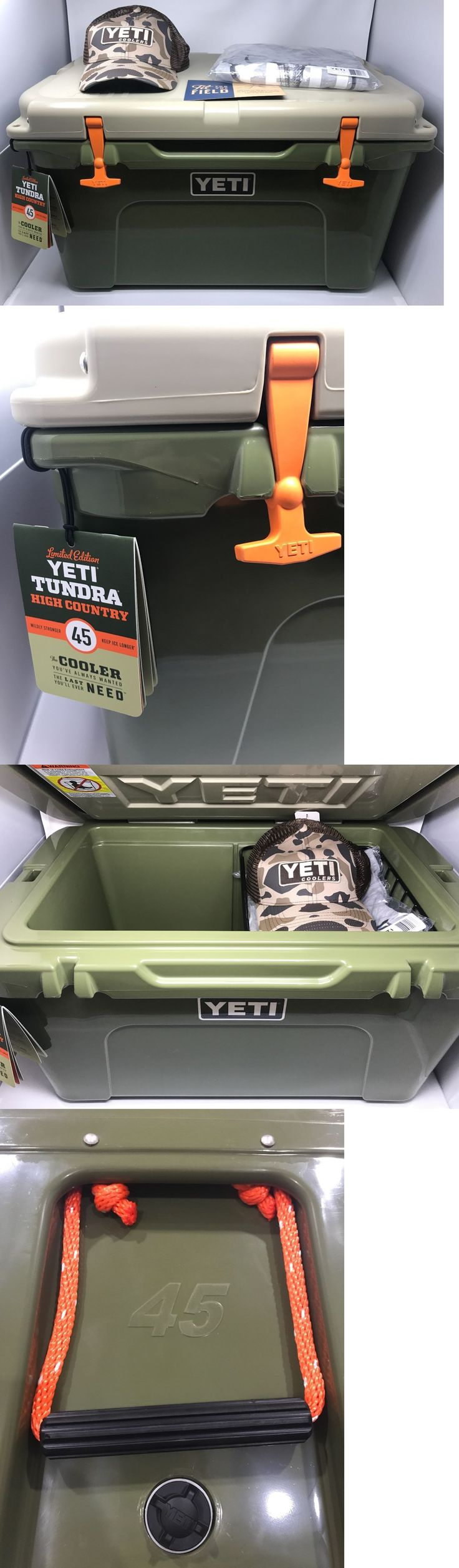 Camping Ice Boxes and Coolers 181382: New Yeti Tundra 45 Quart High Country Cooler, Shirt, Hat Rare Limited Edition -> BUY IT NOW ONLY: $499.99 on eBay!