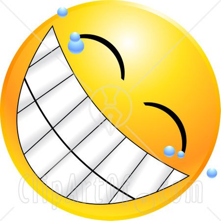 22135-Clipart-Illustration-Of-A-Yellow-Emoticon-Face-With-Bubbles-Grinning-With-A-Giant-Toothy-Smile.jpg (450×450)
