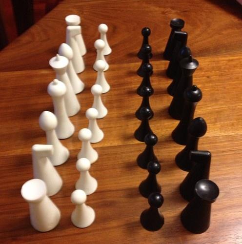Vintage Herman Ohme Sculptural Chess Game Set                                                                                                                                                     More