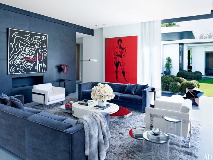 BLOG: Celebrities Who Love Pop Art - Pop Art has been popular since the 1960's. Shown above, Alex Rodriguez's home with a Keith Haring and an Andy Warhol painting in the living room of his Coral Gables home. What other celebrities have decorated their homes with Pop Art? Click to find out!!