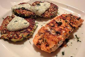 Diana Takes a Bite: Feta and Zucchini Fritters with Herbed Greek Yogurt