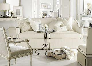 monochromatic family room -