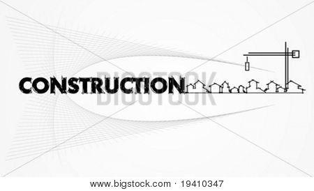 architettura - impresa edile. Progetto carta modello - illustrazione vettoriale