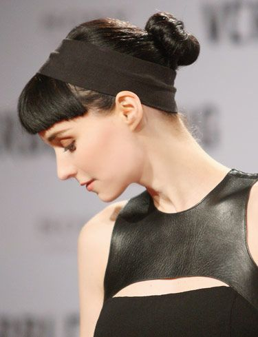 Rooney Mara's Sleek Chignon