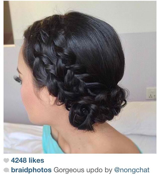 Phenomenal Double Braid Updo And Braids On Pinterest Hairstyle Inspiration Daily Dogsangcom