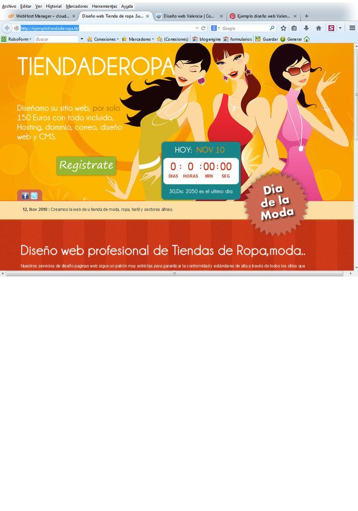ejemplo tienda de ropa ideal tiendas de moda, boutique y similares http://diseno-web-valencia.net/