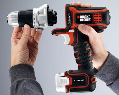 Modular power tool by Black and Decker. Drill, impact driver, oscillating multi-tool, jigsaw, sander, router and circular saw