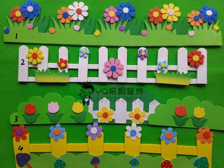 Classroom Wall Decoration For Kindergarten ~ Nursery decoration d wicket wall stickers kid classroom