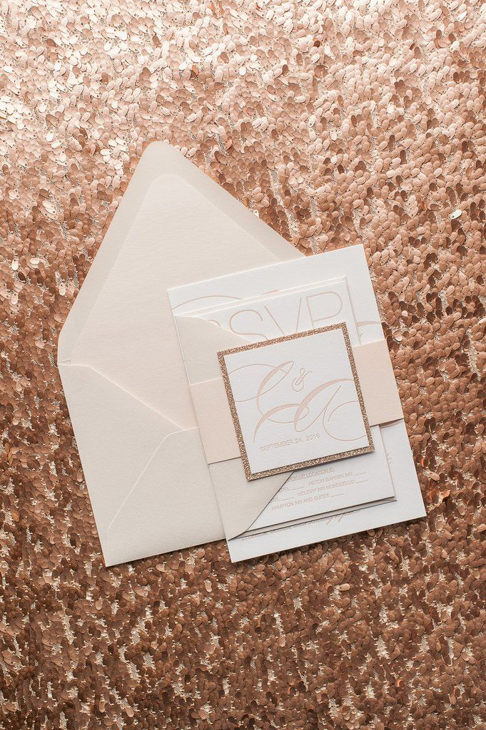 JESSICA Suite Romantic Package, Neutral Tone Wedding Colors, Blush And Rose  Gold Glitter,