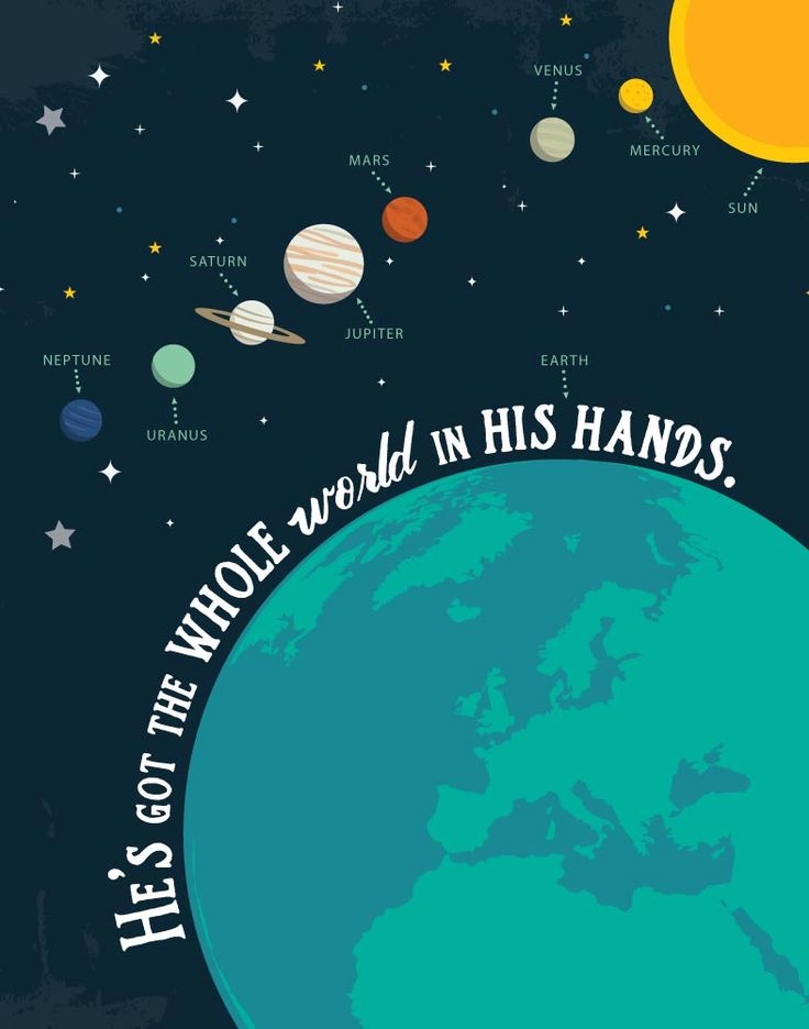 He's got the whole world in His hands - Children's Bible Song Print
