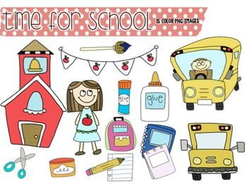 Getting ready for back to school?  Please enjoy these 15 color PNG school images to use in your creations!  Please read my terms of use included in this zip file.
