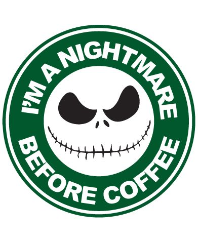 Starbucks Inspired Jack Skellington Coffee Logo I M A