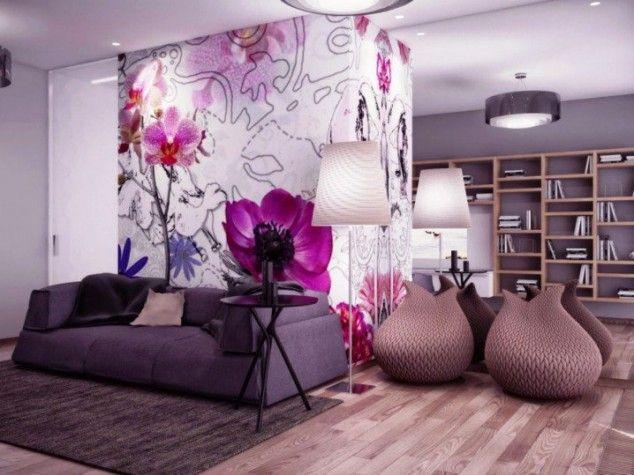 Die besten 25+ Wandgestaltung lila grau Ideen auf Pinterest - kunst fürs wohnzimmer