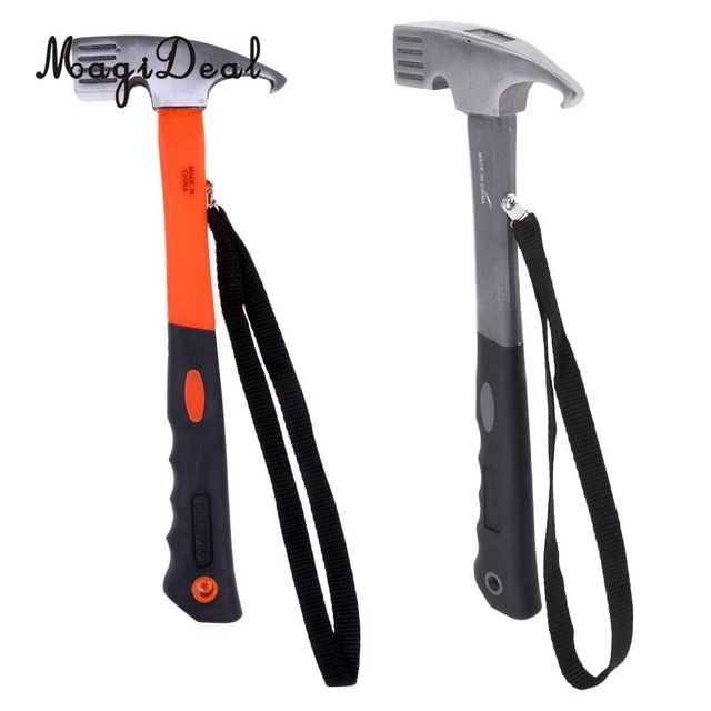 Outdoor Camping Tent Hammer Peg Stake Extractor Puller Lightweight Hiking Tool