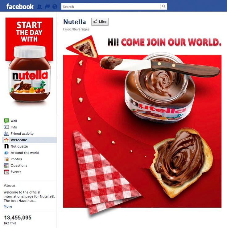 Tab Facebook: Nutella