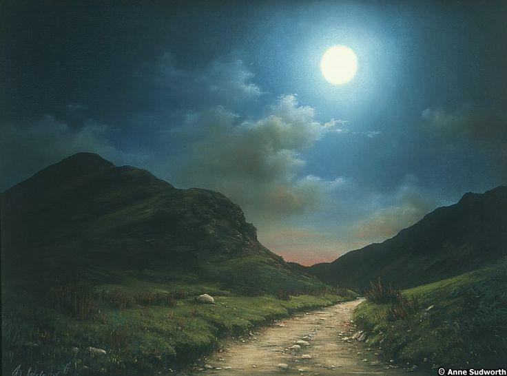 Anne Sudworth - Fleetwith by Moonlight.