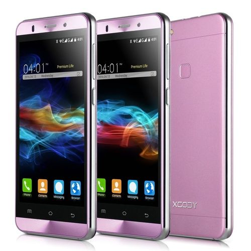 XGODY X15S 5''Android Mobile Phones HD 8GB Rom Dual SIM GPS 2/3G Smartphone Cell Phone(Color:Pink)