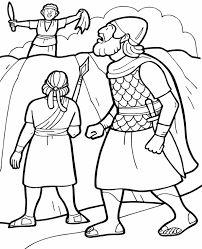 David Spares Saul Coloring Page Sketch