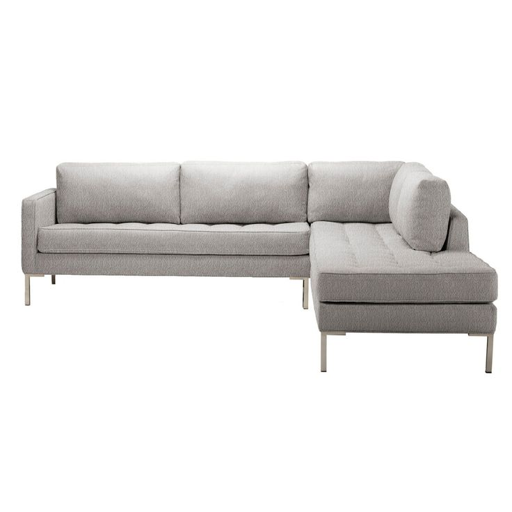 Paramount Right Sectional Sofa - Pebble  Blu Dot