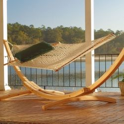 hatteras hammocks   roman arc     cypress hammock stand but with the the original pawleys island large duracord   rope hammock in coastal blue is being added     127 best hammocks shades and leisure images on pinterest   hammock      rh   pinterest