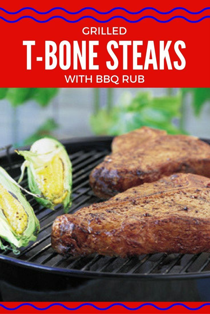 Beef at its best, just add a simple rub made with chili powder, garlic and brown sugar! #BBQ http://kansasfarmfoodconnection.org/recipes/grilled-t-bone-steaks-with-bbq-rub