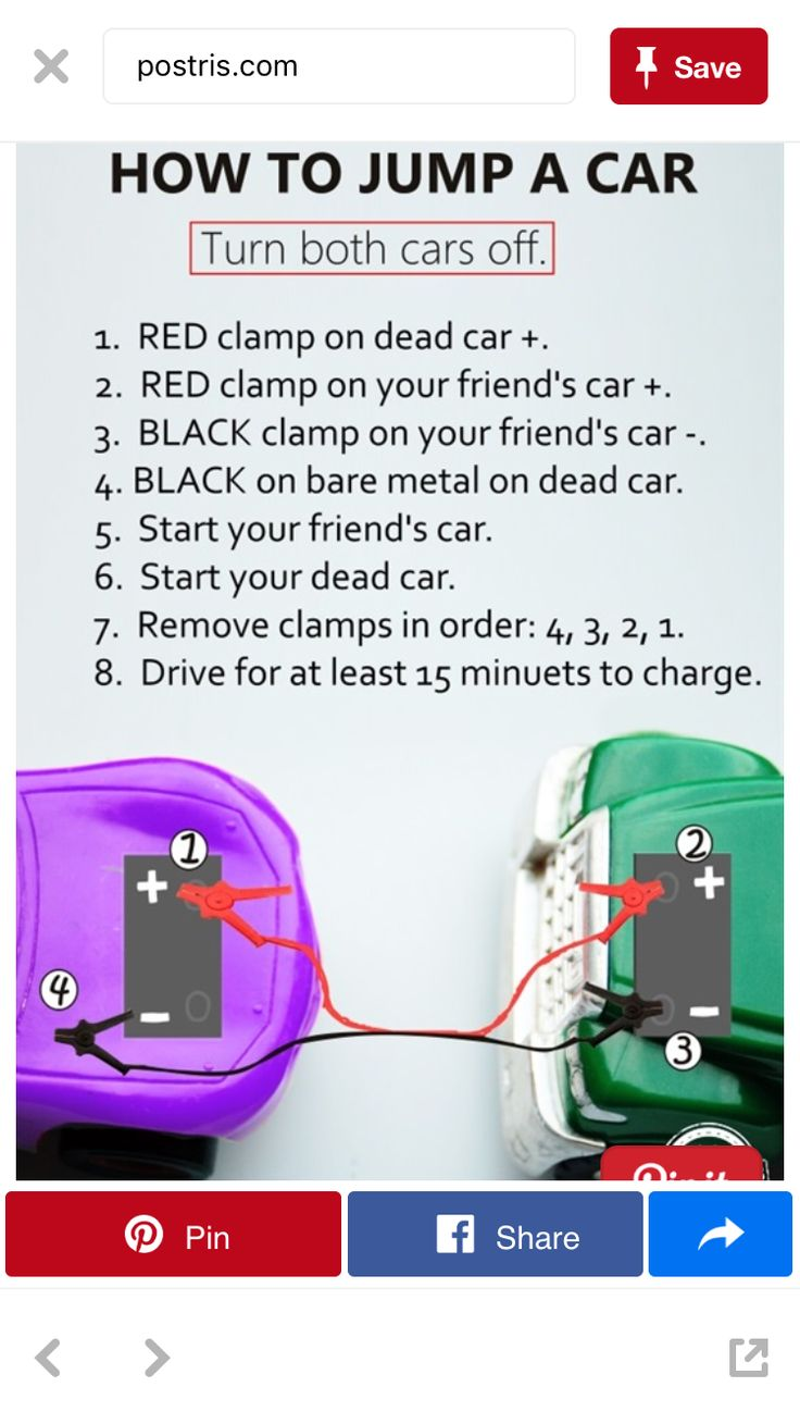 How to jump start a car