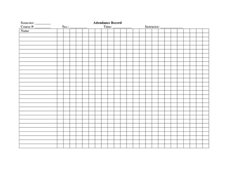 The 25+ best Attendance register ideas on Pinterest Games of the - attendance chart template