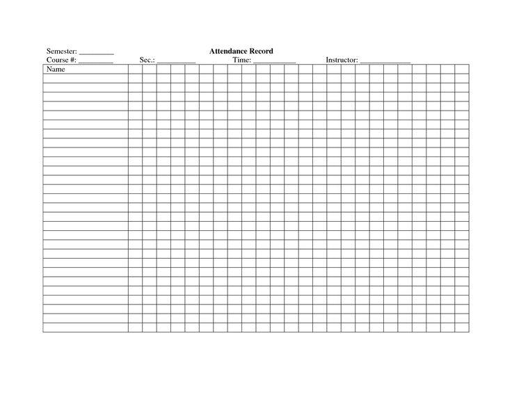 teacher attendance sheets