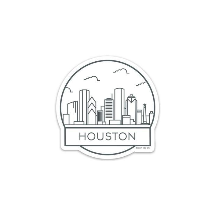 The Houston Cityscape Sticker City Icon Houston Skyline Logo