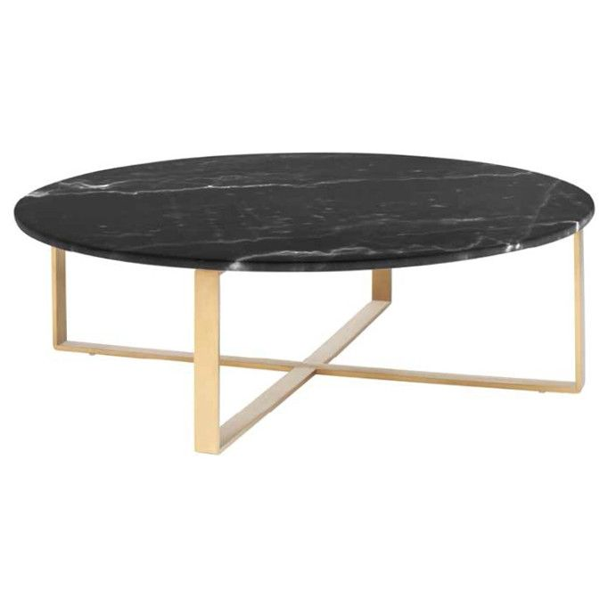 Marble Coffee Table Heavy: Black Marble Coffee Table