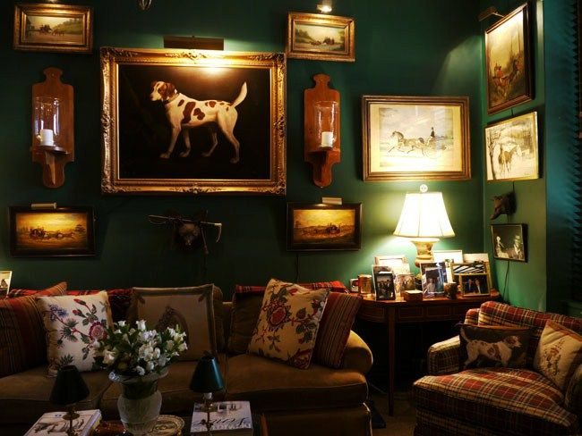 """Farrow & Ball """"Calke Green"""" a perfect shade of warm olive that doesn't feel forced or obnoxiously bright."""