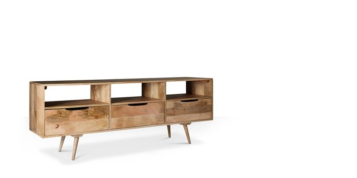 Swoon Editions The Scandi style media unit in natural — just £299
