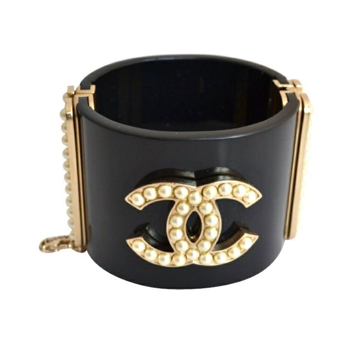 Chanel bracelet cuff Pearls | From a unique collection of vintage cuff bracelets at http://www.1stdibs.com/jewelry/bracelets/cuff-bracelets/