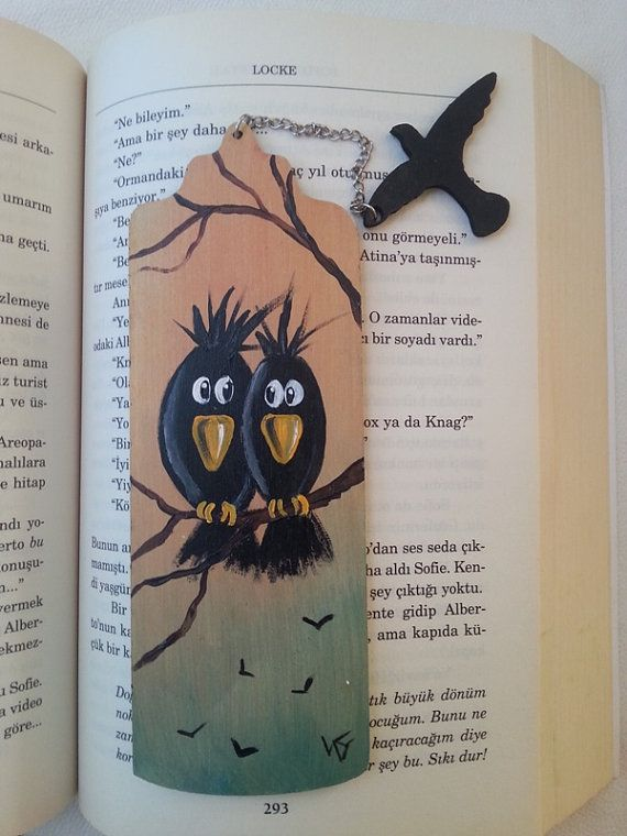 Crows bookmark handmade bookmarks book accessories book by AxiKedi