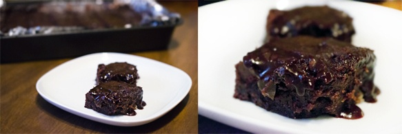 Mexican Brownies with Espresso Glaze...yuuuuuum!