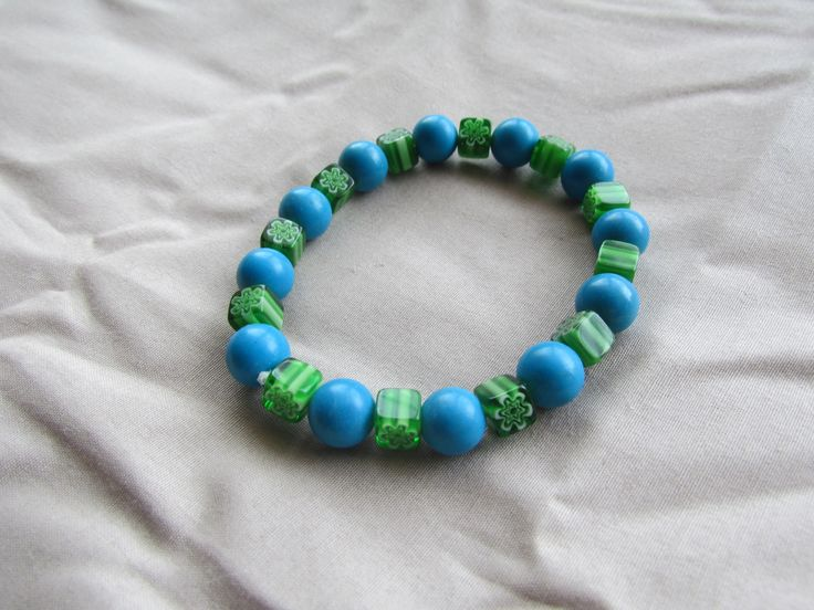 This is one of my stretchy bracelets that I have made that you can find on Etsy.  AprilShowersJewelry5