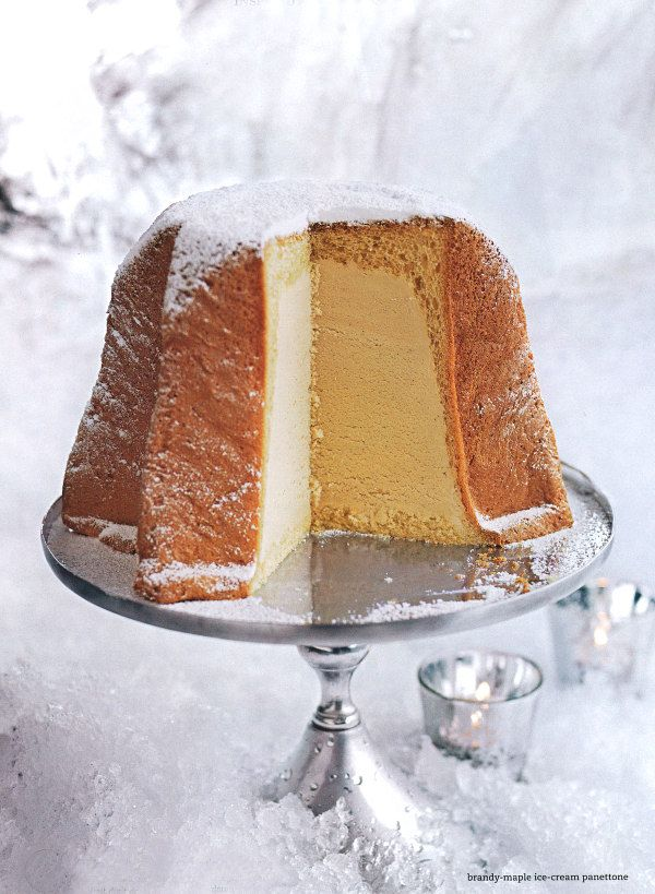 A Little Christmas Magic - Brandy Maple Ice Cream Panettone -recipe
