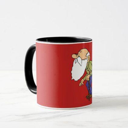 old man mug - decor diy cyo customize home