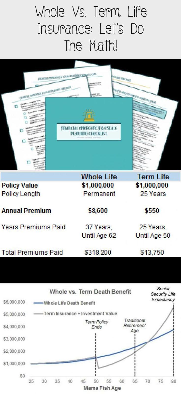 Whole Vs Term Life Insurance Let S Do The Math Smart Money