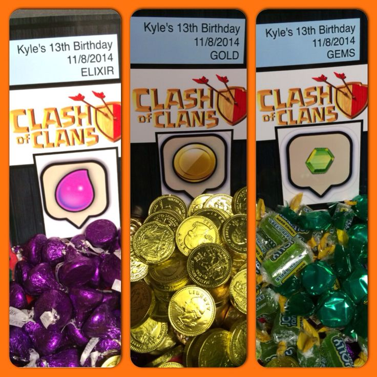 My home made clash of clans party sweets/treats coc #clashofclans #coc