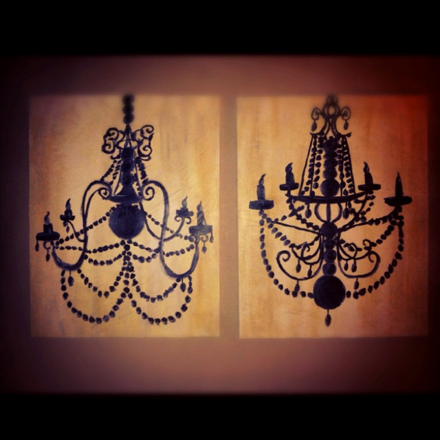 35 Best Painting Of Chandelier Images On Pinterest