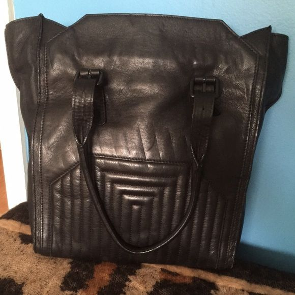 Leather Zara Tote Bag Chic black leather Zara tote, in great condition, worn very few times. Zara Bags Totes