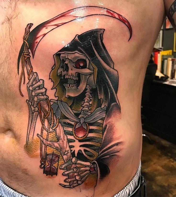 Reaper tattoo by @mister_swan at Broken Art Tattoo in Los Angeles CA #misterswan #jeremyswan #brokenarttattoo #losangeles #la #california #grimreaper #grimreapertattoo #reaper #reapertattoo #tattoo #tattoos #tattoosnob