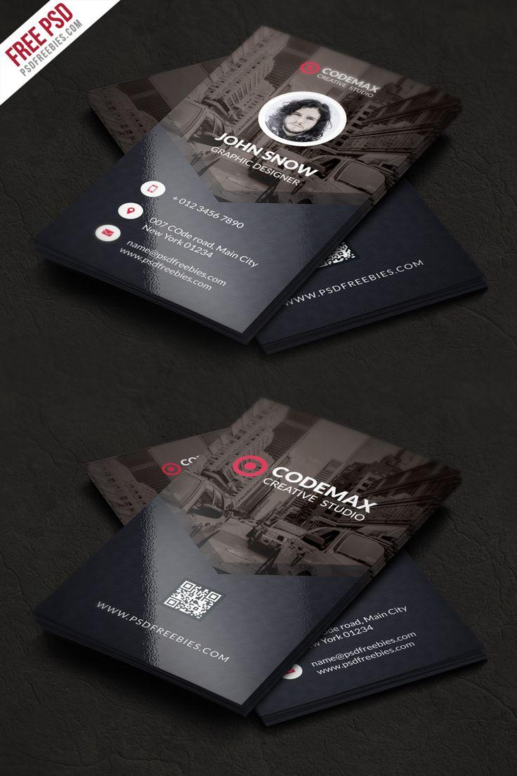 modern business card free psd template