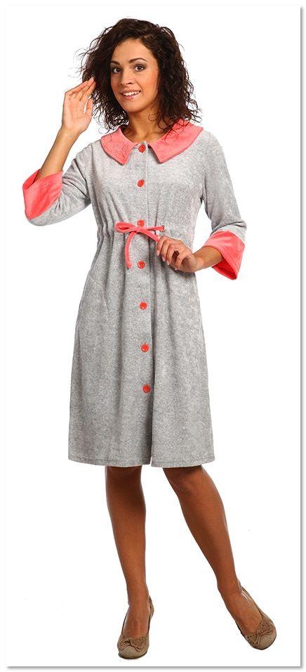 Велюровый халат для беременных 2330
