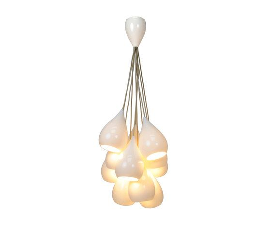 Drop One Grouping of Eleven Pendant Light, White Gloss by Original BTC Limited   General lighting