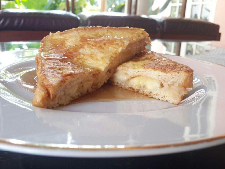 FRENCH TOAST #banana #creamcheese