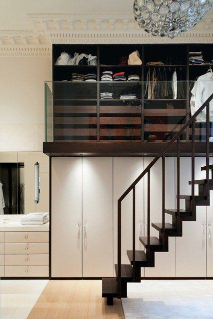 Double-height closet - Clothes Storage Ideas - Wardrobe Storage (houseandgarden.co.uk)